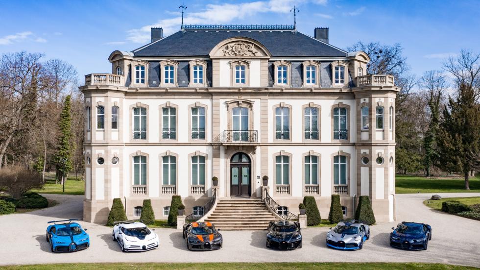 La gamme Bugatti au grand complet