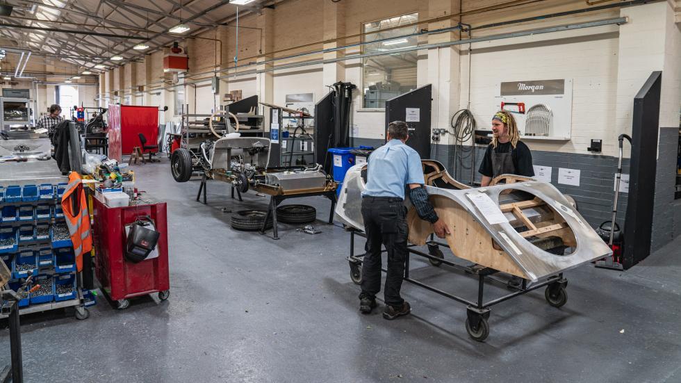 Morgan a produit son dernier châssis acier - Galerie